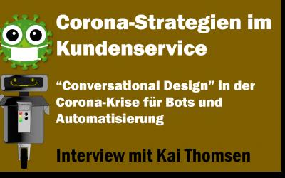 """Corona-Strategien: Digitale Kundendialoge optimieren. """"Conversational Design"""" in der Corona-Krise für Bots und Automatisierung"""