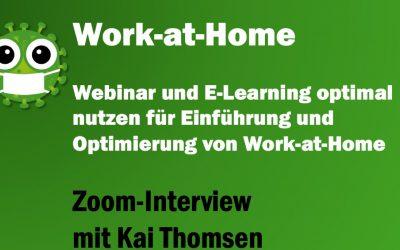Work-at-Home: Welchen Nutzen haben Webinar, E-Learning und Webbased Training in der Corona-Krise